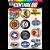 Cartela Adesivos Logos Antigos M1 Individual Nº1 Vintage Old School - Imagem 1