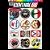 Cartela Adesivos Logos Antigos M1 Individual Nº3 Vintage Old School - Imagem 1