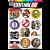 Cartela Adesivos Logos Antigos M1 Individual Nº4 Vintage Old School - Imagem 1