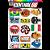 Cartela Adesivos Motocross M1 Individual Nº2 Patrocinios - Imagem 1
