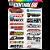 Cartela Adesivos Motocross M1 Individual Nº4 Patrocinios - Imagem 1