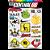 Cartela Adesivos Motocross M1 Individual Nº5 Patrocinios - Imagem 1