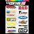 Cartela Adesivos Motocross M1 Individual Nº6 Patrocinios - Imagem 1