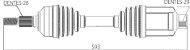 Semieixo Ford Ranger 2.2 3.2 4x4 13/.. Lado Direito 29x28 - Imagem 5