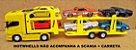 SCANIA R730 Amarela - ESCALA 1/64 + CARRETA (ESCALA 1/68) = 25 CM - Imagem 3