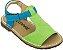 Sandália Infantil Carrossel Limão/ Azul - Imagem 1