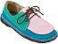 Sapato Infantil Dominó Camurça Azul/Doce/Verde - Imagem 1