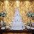 Cortina 500 Leds Luz PIsca Funções Branco Fria ou Branco Quente Festa e Casamentos M\F - Imagem 4
