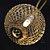 Cordão Pingente Fio De Luz Luminária Bolas Douradas branco Quente BIVOLT - Imagem 3
