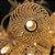 Cordão Pingente Fio De Luz Luminária Bolas Douradas branco Quente BIVOLT - Imagem 5