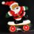 Painel Papai Noel Iluminado Enfeite Led Natal - Imagem 4
