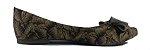 Sapatilha Com Estampa de Corda com Laço Frontal Marrom. Original e Cheia de Personalidade - Imagem 2