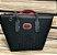 Bolsa Preta em Couro PU com Detalhes em Vermelho - Imagem 1