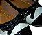 Sapatilha em Napa Bege, Bico em Verniz Preto e Lacinho Frontal. Linha Heel Comfort, pra te dar mais conforto e segurança ! - Imagem 2