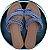 Rasteirinha Azul Tiras e Poá Branco. Super Fashion ! - Imagem 1
