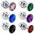 Plug Anal de Aço Escalonado com Cristal Inoxidável Arredondado - Imagem 1