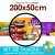 Placa Laminada - Menu para vender Açaí no copo com complementos - Tamanho 200x50cm - Imagem 4