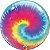 """Balão de Festa Bubble Tie Dye 22"""" 56cm - 01 Unidade - Qualatex - Rizzo Embalagens - Imagem 1"""