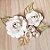 Decoração para Bolo em Papel - Folha e Flor G - Dourado/Branco - 01 unidade – MaxiFormas - Rizzo Embalagens - Imagem 1
