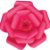 Flor de Papel Decoração Festa - Camélia 39cm M Rosa Pink - Decora Doces - Rizzo Festas - Imagem 1