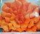 Flor de Papel Decoração Festa - Flor do Campo 32cm P Laranja - Decora Doces - Rizzo Festas - Imagem 3