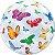 Balão Bubble Transparente Borboletas - 22'' 56cm - Qualatex - Rizzo festas - Imagem 2