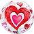 Balão Bubble Transparente Corações - 22'' 56cm - Qualatex - Rizzo festas - Imagem 1