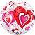 Balão Bubble Transparente Corações - 22'' 56cm - Qualatex - Rizzo festas - Imagem 2