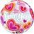 Balão Bubble Transparente Love You - 22'' 56cm - Qualatex - Rizzo festas - Imagem 1