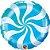 Balão Metalizado Bala Espiral Azul - 18'' - Qualatex - Rizzo festas - Imagem 1