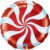 Balão Metalizado Bala Espiral Vermelha - 18'' - Qualatex - Rizzo festas - Imagem 1