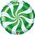 Balão Metalizado Bala Espiral Verde - 18'' - Qualatex - Rizzo festas - Imagem 1