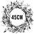 Guirlanda de Páscoa Verde/Rosê Decoração de Páscoa - G 45cm - Cromus Páscoa Rizzo Embalagens - Imagem 2
