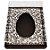 Caixa Ovo de Colher com Moldura - Meio Ovo de 350g - 23cm x 19cm x 10cm - Marrom Arabesco - 5unidades - Assk - Páscoa Rizzo Embalagens - Imagem 1