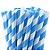 Canudo de Papel Listras Azul - 20 unidades - ArtLille - Rizzo Festas - Imagem 1