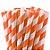 Canudo de Papel Listras Laranja - 20 unidades - ArtLille - Rizzo Festas - Imagem 1