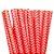 Canudo de Papel Missoni Vermelho - 20 unidades - ArtLille - Rizzo Festas - Imagem 1