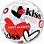 Balão Bubble Transparente Happy Valentine's Day - 22'' 56cm - Qualatex - Rizzo festas - Imagem 1