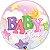 Balão Bubble Transparente Baby Girl - 22'' 56cm - Qualatex - Rizzo festas - Imagem 1