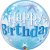 Balão Bubble Transparente Aniversário Azul Explosão de Estrelas - 22'' 56cm - Qualatex - Rizzo festas - Imagem 1