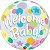 Balão Bubble Transparente Welcome Baby - 22'' 56cm - Qualatex - Rizzo festas - Imagem 1