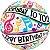 """Balão Bubble Transparente Notas Musicais de """"Parabéns a você"""" - 22'' 56cm - Qualatex - Rizzo festas - Imagem 1"""