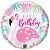 Balão Metalizado Flamingo Rosa de Aniversário - 18'' - Qualatex - Rizzo festas - Imagem 1