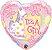 Balão Metalizado It's a Girl Coração - 18'' - Qualatex - Rizzo festas - Imagem 1