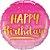 Balão Metalizado Aniversário Ouro & Rosa - 18'' - 1 Unidade - Qualatex - Rizzo festas - Imagem 1