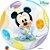 Balão Bubble Transparente Disney Baby Mickey Mouse - 22'' 56cm - Qualatex - Rizzo festas - Imagem 1