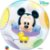 Balão Bubble Transparente Disney Baby Mickey Mouse - 22'' 56cm - Qualatex - Rizzo festas - Imagem 2