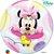 Balão Bubble Transparente Disney Baby Minnie Mouse - 22'' 56cm - Qualatex - Rizzo festas - Imagem 2