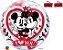 Balão Bubble Transparente Disney Mickey & Minnie I Love You - 22'' 56cm - Qualatex - Rizzo festas - Imagem 1