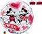 Balão Bubble Transparente Disney Mickey & Minnie I Love You - 22'' 56cm - Qualatex - Rizzo festas - Imagem 2